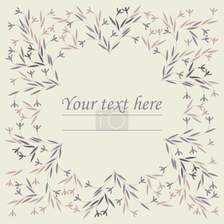 Illustration pour Cadre floral élégant peut être utilisé pour les cartes de vœux, cartes de remerciement, douche de bébé ou invitation de mariage, modèle, fond et dessins plus créatifs . - image libre de droit