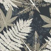 Seamless pattern with exotic Palm leaves