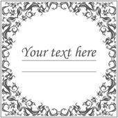 Floral classic circle frame