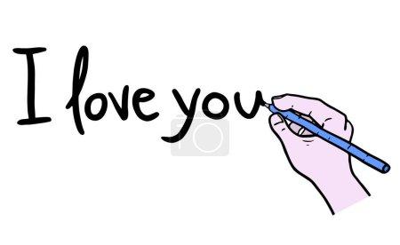 I love you message vector illustration