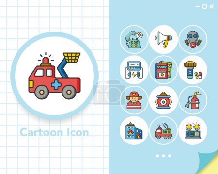 Illustration for Icon set emergency vector - Royalty Free Image