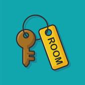 hotel key icon vector