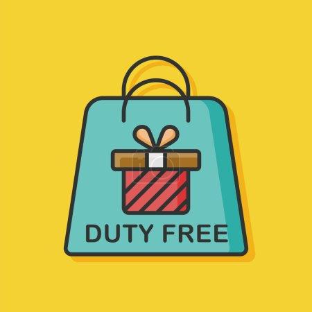 duty free bag icon