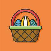 Velikonoční vajíčko vektorové ikony