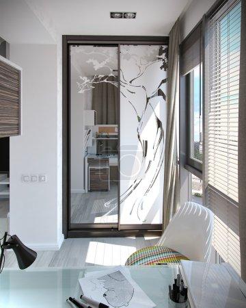 Photo for Modern interior design ideas. 3d visualization of children room interior design. - Royalty Free Image