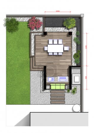 Backyard master plan, 2d sketch