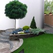 Natural character of the site into the design. Gre...