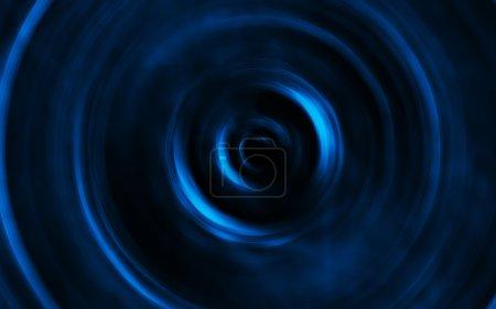Photo pour Tourbillon abstrait de bleu sur fond noir - image libre de droit