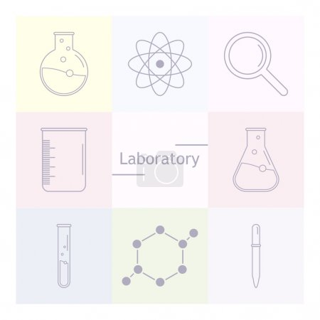 Chemicals and science icons