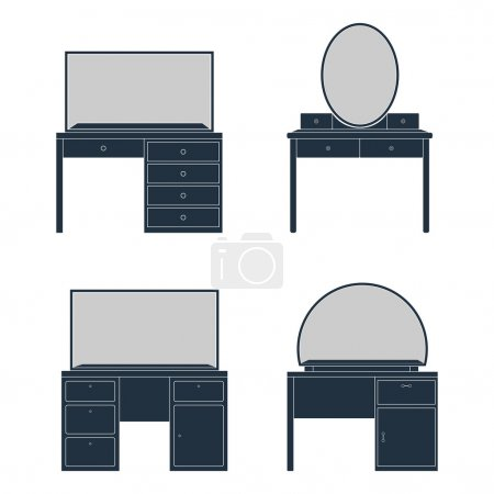 Illustration of a Dressing Table