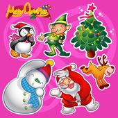 christmas cartoon elements