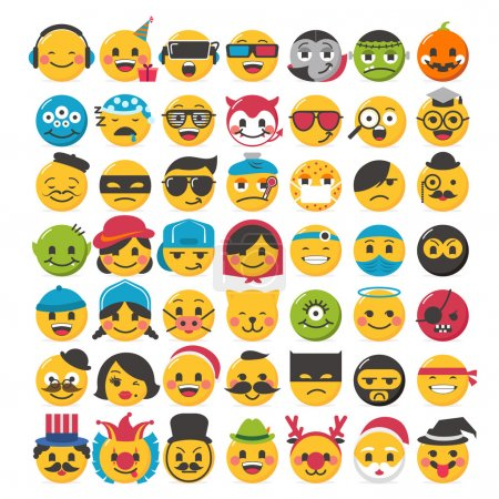 Funny emoticons design