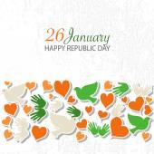 Happy Republic Day (India) templates for postcard invitation card