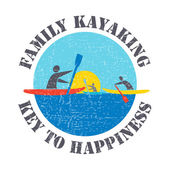 """Vector flat design style illustration with signature """"Family Kay"""
