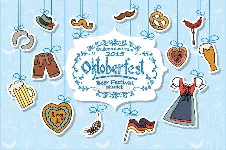 Vector illustration of Oktoberfest elements set. O...
