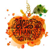 Happy Thanksgiving Day logotype badge and icon