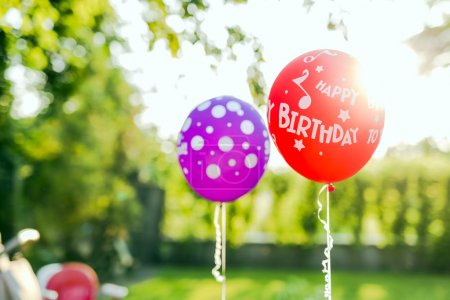 Balloons with Happy Birthday sign