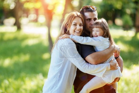 Family happy with adopted child