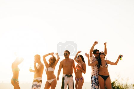 Beach party during summer