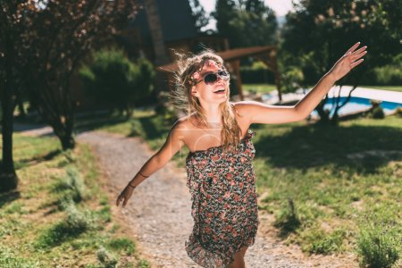 Beautiful hippie girl vacation