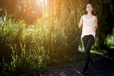 Beautiful woman jogging