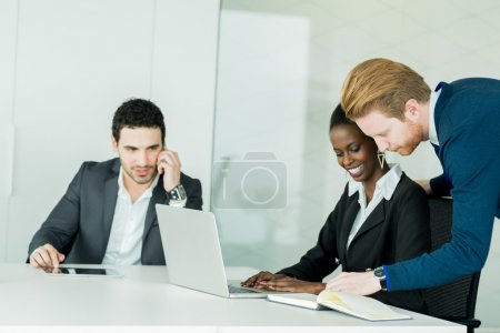 Businesspeople discussing in an office