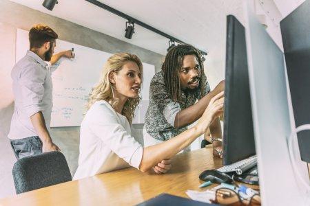 Designer team discussing new ideas