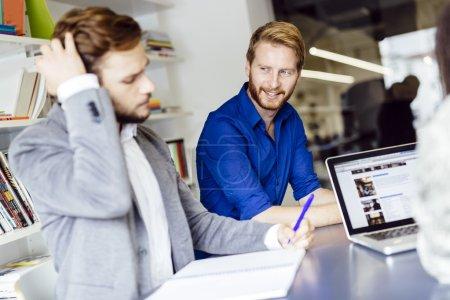 Teamwork in modern office