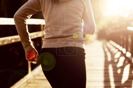 Female jogger running