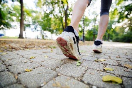 Women jogging in park