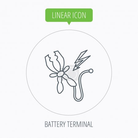 Terminal electrical icon. Charging the battery.