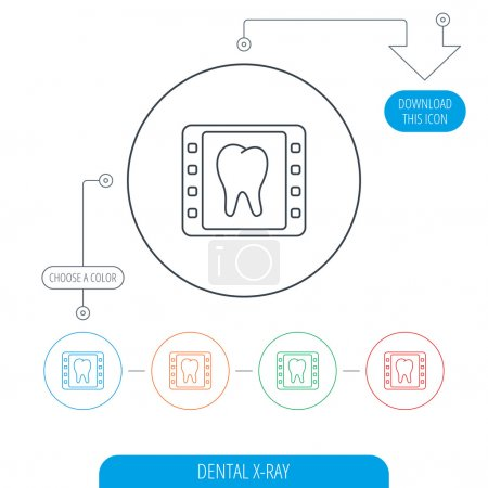 Dental x-ray icon. Orthodontic roentgen sign.