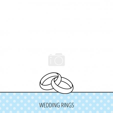 Illustration for Wedding rings icon. Bride and groom jewelery sign. Circles seamless pattern. Background with icon. Vector - Royalty Free Image