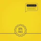 BPA free icon Bisphenol plastic sign