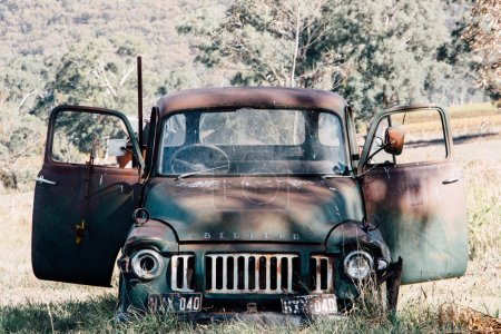 Classic Truck Decaying in the Australian Bush - Film Look