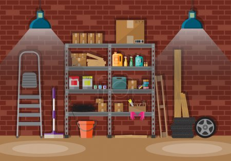 Interior of storeroom