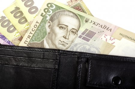 Hryvnia ukrainienne. Billets en coupures de 100, 200, 500 b
