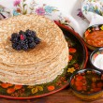 Shrovetide, Russian traditional pancakes - blini, ...