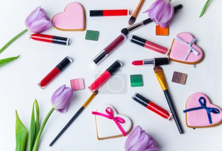 tulips, cookies and cosmetics