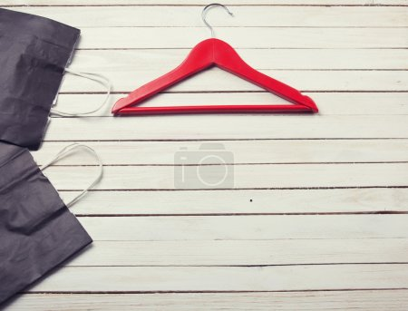 Shopping bags with hanger
