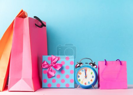 Alalrm clock and gift box