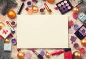 White board and cosmetics
