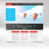 Website Design for Your Business with hot air balloons realistic illustration Vector Eps 10