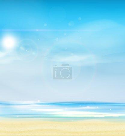 Illustration pour Fond d'été, illustration vectorielle . - image libre de droit