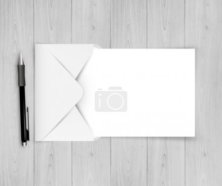 Open White Envelope With Paper With Gradient Mesh, Vector