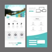 Business Modern Clean One page website design template Vector Design