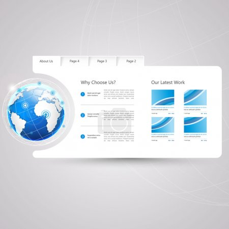 Illustration for Minimal Website Template Design - Royalty Free Image