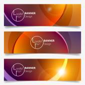 Vector Colorful Horizontal Banner