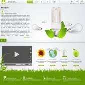 Eco webové stránky šablony Design
