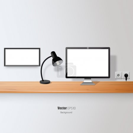 Blank Flat screen and Picture Border.